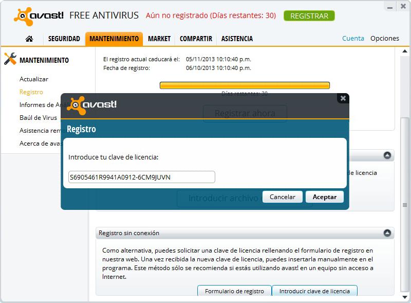descargar codigo de activacion de avast free antivirus